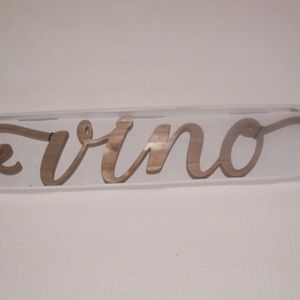 Vino Wood Bar Sign Italian Kitchen Wall Decor